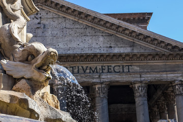 Fontana del Pantheon in Rome