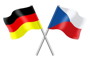 Flags : Germany and Czech Republic