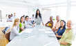 Group of Multiethnic Corporate People Having a Meeting