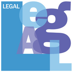 """LEGAL"" Letter Collage (justice law contract free advice faq)"