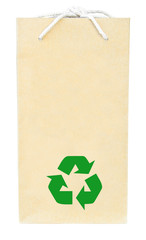 Brown recycle paper shopping bag