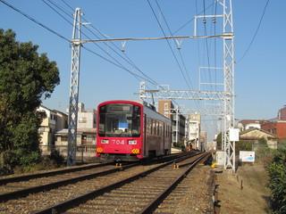阪堺線の赤い電車