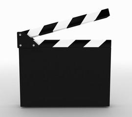 blank film slate cinema concept