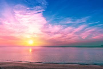 Magic sunrise over sea in Israel