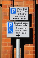 Restricted parking sign, Lichfield © Arena Photo UK