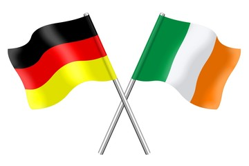 Flags : Germany and Ireland