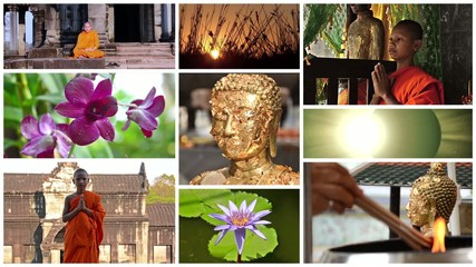 buddhism collage, peace, meditation, positivity