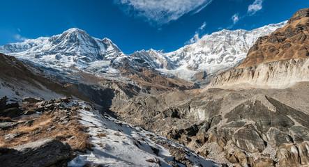 Annapurna South and Annapurna I, Annapurna range, Nepal