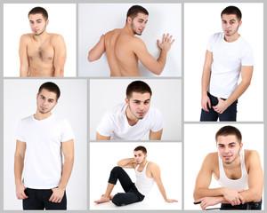 Snapshot of model. Handsome man