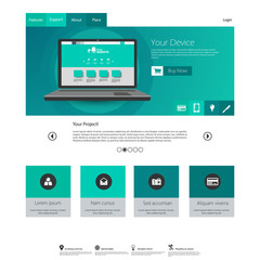Modern elegant Flat Minimalist Website Template Design