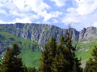 Beautiful landscape in the mountains. Siberia. Sayan Mountains.