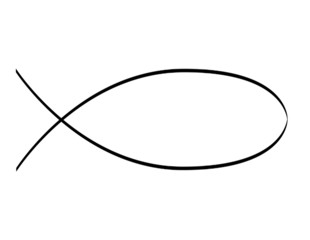 schematic drawing of jesus fish