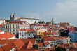 Lisbon city, Portugal. View on sunny day from San Jorge Castle