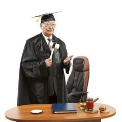 Asian mature judge