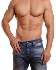 halb nackter muskulöser Mann