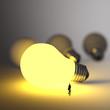 businessman walking to growing lightbulb 3d idea diagram as succ