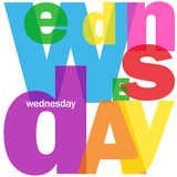 """WEDNESDAY"" (agenda calendar week day date time planner meeting)"