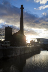 Liverpool Albert dock at dusk