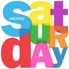 """""""SATURDAY"""" (agenda calendar week day date time planner meeting)"""