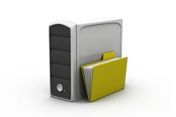 Folder with server..