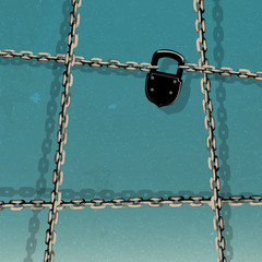 illustration of chain and padlock