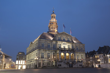 Night view to town hall of Maastricht