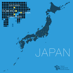 日本地図 #Vector Illustration