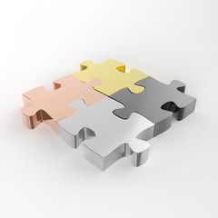 puzzles partnership as concept