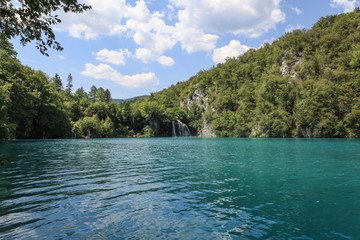 Beautiful scenery in Plitvice Lakes National Park, Croatia