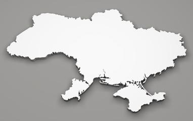 Mappa Ucraina bianca