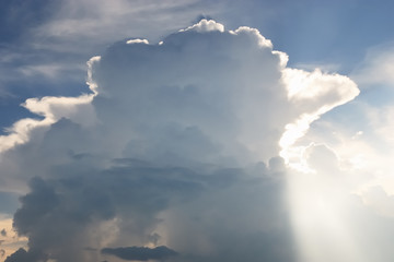 Nimbus in Cloudscape with light beam