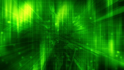 Green High Tech Looping abstract background