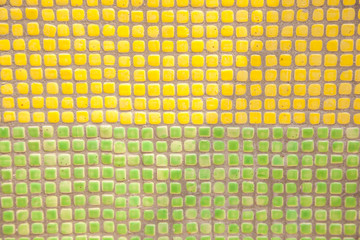 Green and yellow square tiles