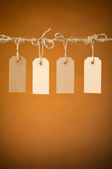 Four Paper Price Tag Labels