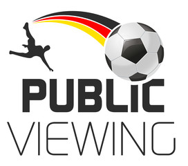 Public Viewing German Soccer