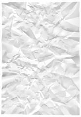 Feuille de papier froissé
