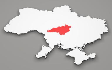 Mappa Ucraina, divisione regioni, kirovohrad