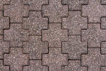 dark red cobblestone road