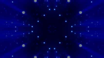 Blue Flared White Dots Looping Animated Background