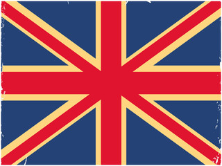 Shabby British flag