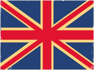 Shabby British flag