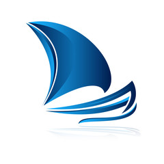 логотип лодка объем