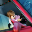 Driving little girl