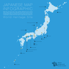 Infographic  Japanese Map