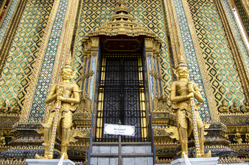 The Statues of guardians at Grand Palace in Bangkok, Thailand