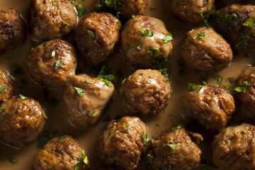 Homemade Swedish Meatballs with Cream Sauce