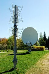 Antenna system in the field museum near Vilnius TV tower