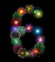 Zahl Feuerwerk - 6
