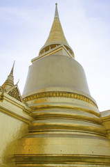 Phra Sri Rattana Chedi at Grand Palace in Bangkok, Thailand