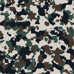 Central Europe seamless vector camo pattern